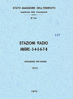 Stazioni radio AN_GRC 3-4-5-6-7-8 - Testo - 1970